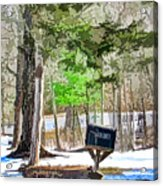 Rural Mailbox In The Snow 1 Acrylic Print