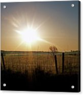 Rural Sunrise Acrylic Print