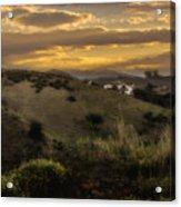 Rural Sunset In Spain Acrylic Print