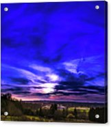 Rural Sunset Panorama Acrylic Print