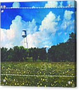 Rural Water Tower Unconventional Acrylic Print