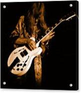 Rush 77 #15 Enhanced In Amber Acrylic Print