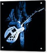 Rush 77 #15 Enhanced In Blue Acrylic Print