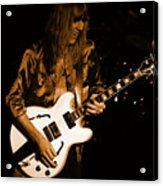 Rush 77 #17 Enhanced In Amber Acrylic Print