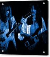 Rush 77 #46 Enhanced In Blue Acrylic Print