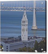 Rush Hour Above The Ferry Building Acrylic Print