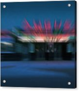 Rush To The Ticket Booth Acrylic Print