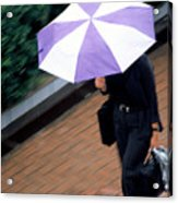 Rushing Back - Umbrellas Series 1 Acrylic Print