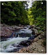 Rushing Falls In The Mountains Acrylic Print