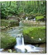 Rushing Mountain Stream Acrylic Print