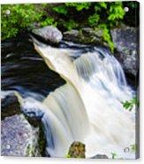 Rushing Water On A Mountain Stream Acrylic Print