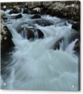 Rushing Waters Acrylic Print