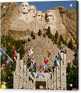 Rushmore State Flags Acrylic Print