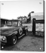 Russel Farms 1951 Ford F100 Black And White Acrylic Print
