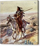 Russell Charles Marion Indian With Spear Acrylic Print