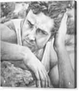 Russell Crowe Acrylic Print