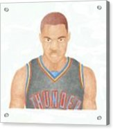 Russell Westbrook  Acrylic Print by Toni Jaso