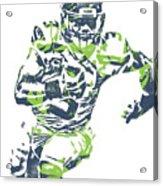 Russell Wilson Seattle Seahawks Pixel Art 12 Acrylic Print