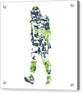 Russell Wilson Seattle Seahawks Pixel Art T Shirt 1 Acrylic Print
