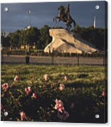Russia, St. Petersburg, The Bronze Acrylic Print by Keenpress