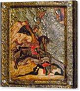 Russian Icon: Demetrius Acrylic Print