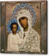 Russian Icon: Mary Acrylic Print