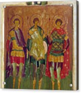 Russian Icon: Saints Acrylic Print