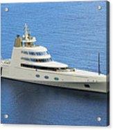Russian Mega Yacht  A - St Lucia Acrylic Print