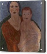 Russian Mother With Child Acrylic Print