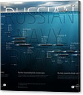 Russian Navy Submarines Infographic Acrylic Print