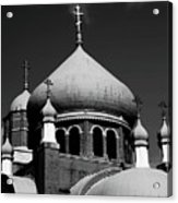 Russian Orthodox Church Bw Acrylic Print