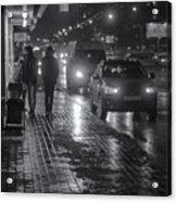 Russian Street Scene At Night 2015 Acrylic Print