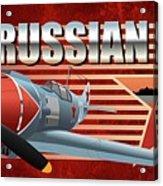 Russian War Bird Acrylic Print