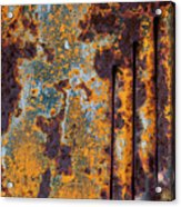Rust Abstract Car Part Acrylic Print