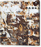 Rust And Torn Paper Posters Acrylic Print