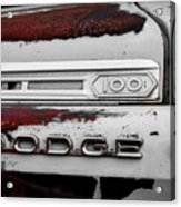 Rust Dodge 6 Selective Color Acrylic Print
