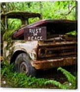 Rust In Peace 2 Acrylic Print