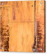 Rust On Metal Texture Acrylic Print
