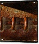 Rust Rings Acrylic Print