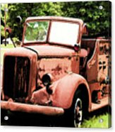 Rusted Mack Fire Engine Acrylic Print