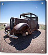 Rusted Old Car On Route 66 Acrylic Print