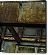 Rusted Steel Support Structure Acrylic Print