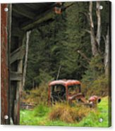 Rusted Truck Acrylic Print by Barry Culling