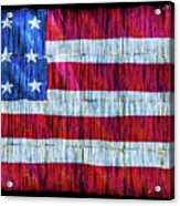 Rustic American Flag Acrylic Print