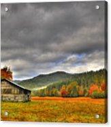 Rustic Autumn Barn Acrylic Print