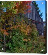 Rustic Barn Above The Fall Colors Acrylic Print