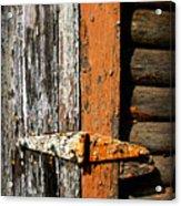 Rustic Barn Hinge Acrylic Print
