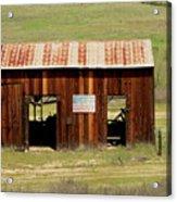 Rustic Barn With Flag Acrylic Print