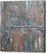 Rustic Barn Wood And Wire Acrylic Print