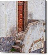 Rustic Brown Door Of Portugal Acrylic Print